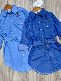 Đầm jean Burberry cho bé gái từ 5-10 tuổi